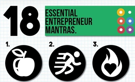 Get Inspired: 18 Essential Entrepreneur Mantras [INFOGRAPHIC] - Marketing Mojo for Small Business | Work From Home | Scoop.it