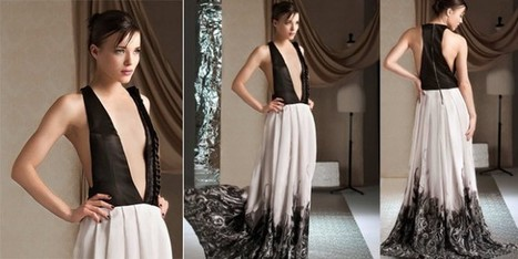 Abiti lunghi, in stile Haute Couture, con inserti naturali e preziosi   Moda Donna - sfilate.it   Scoop.it