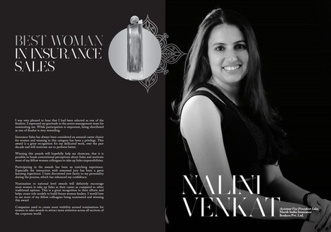 Nalini Venka Assistant Vice President Sales, Marsh India Insurance Brokers Pvt. Ltd. Best Woman In Insurance Sales Winner | Women In Sales | Scoop.it