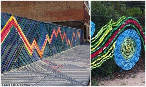 Comment décorer sa clôture de jardin en objets récup- 20 idées | CD-rooms | architecture intérieure & décoration | Scoop.it