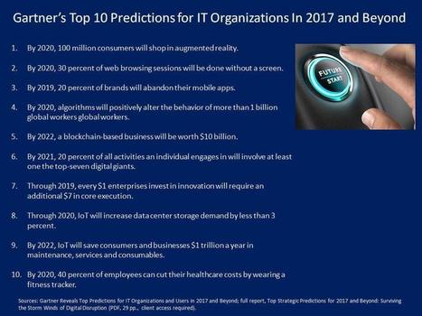 Gartner's Top 10 Predictions For IT Organizations In 2017 And Beyond | Innovation | Scoop.it