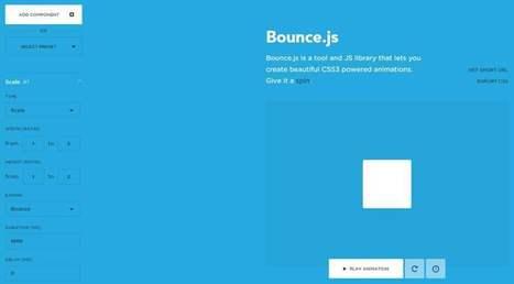 Créer facilement des animations en CSS3, Bounce.js | Les Infos de Ballajack | Les outils d'HG Sempai | Scoop.it
