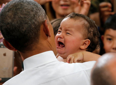 Obama Works His Magic On Crying Baby In Japan | LibertyE Global Renaissance | Scoop.it