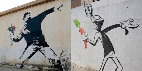 Banksy parodié avec des personnages de dessins animés | En français, au jour le jour | Scoop.it