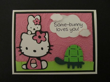 Handmade Hello Kitty Cricut Card - News - Bubblews | P.S. I Love You Paper Arts and Crafts | Scoop.it