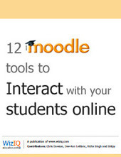 12 Moodle tools to interact with your students online | iGeneration - 21st Century Education | Scoop.it