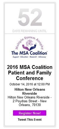 Countdown Begins for MSA Coalition Patient and Family Conference | The Multiple System Atrophy Coalition | Scoop.it
