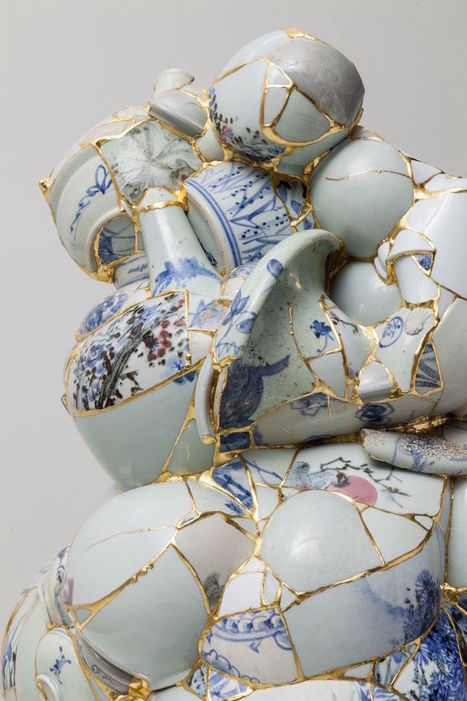 Artist Gives New Life to Shattered Porcelain Fragments By Fusing Them with Gold | Le Panda De Cina ✪ | Scoop.it