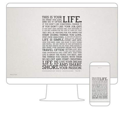 The Holstee Manifesto | omnia mea mecum fero | Scoop.it