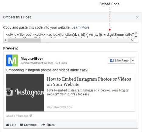 How to Embed Facebook Posts on Your Website | Tech Tips | Scoop.it