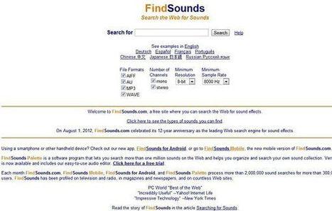 FindSounds, más de un millón de sonidos y efectos para descargar gratuitamente | ProfeTIC | Scoop.it