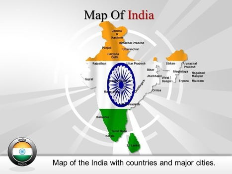 Download Editable Map of india Powerpoint | PowerPoint Maps | Scoop.it