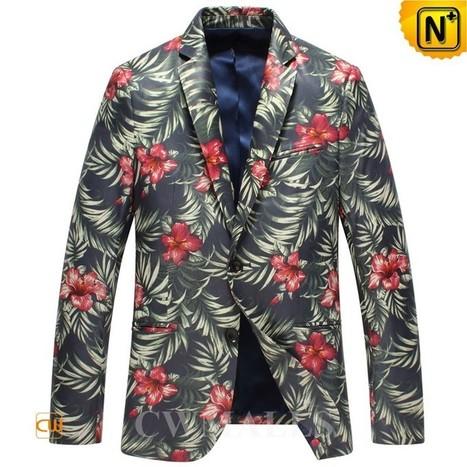 CWMALLS Mens Printed Leather Blazer CW816123 | Leather Blazer Jacket | Scoop.it