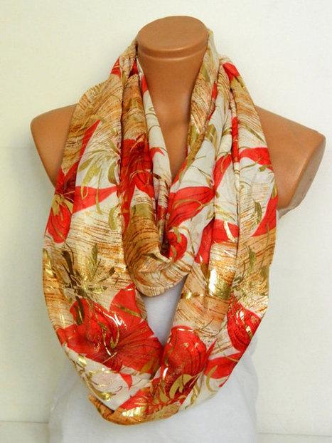 Fashion scarves,Infinity Scarves,Loop Scarf,Circle Scarf,Chiffon Scarf,Cowl Scarf,Nomad Cowl. Multicolor, eternity Scarf by WomensScarvesTrend | women fashion | Scoop.it