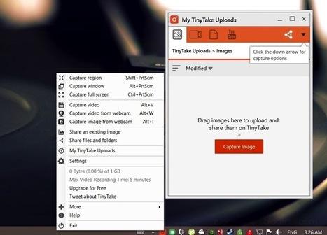 TinyTake, una excelente manera de capturar y anotar screenshots / capturas de pantalla en Windows - arturogoga | Curiosidades y Ocio | Scoop.it