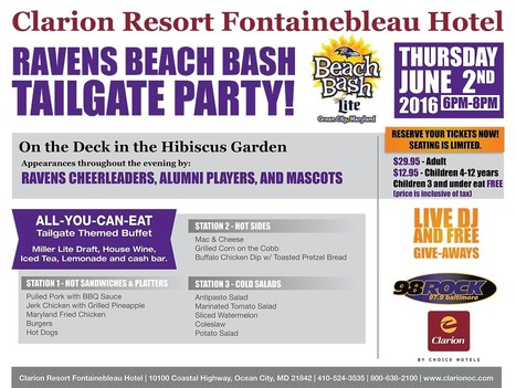 Raven's Beach Bash Tailgate Party | Clarion Hotel Ocean City MD | Ocean City MD & Coastal DE Beach Real Estate - ShoreFun4U - BeachHomes4Sale & Rent - Susan Antigone - 'Sun, Sea, Style' | Scoop.it