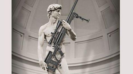 Protest tegen reclame van David met geweer   kap-BoetsA   Scoop.it