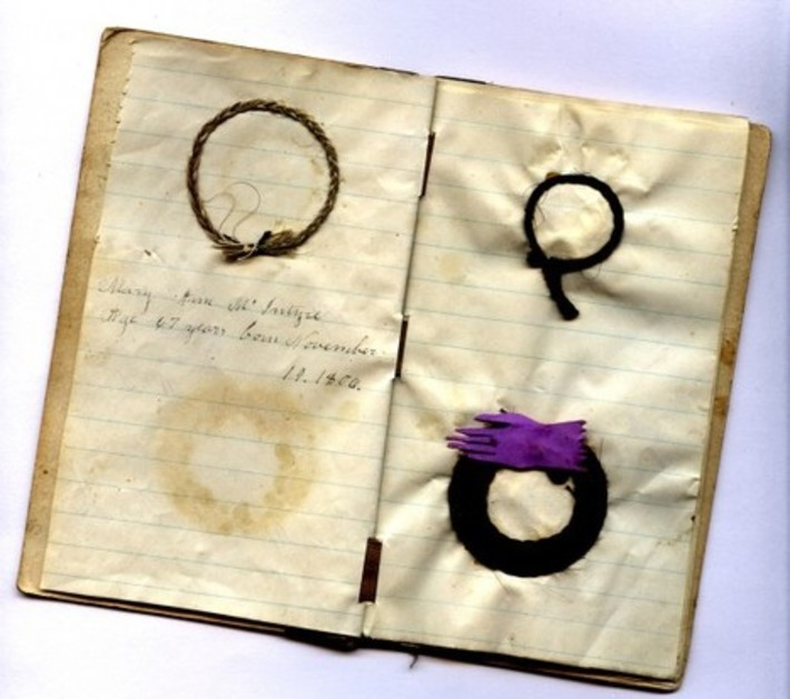 Antique Memorial Book Of Victorian Mourning Hair Braids | Inherited Values | Antiques & Vintage Collectibles | Scoop.it