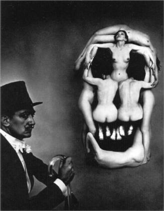 Women forming a skull - Salvador Dali - WikiPaintings.org | Clic France | Scoop.it