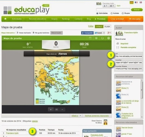Tutorial Educaplay: Actividad mapa interactivo | Tic, Tac... y un poquito más | Scoop.it
