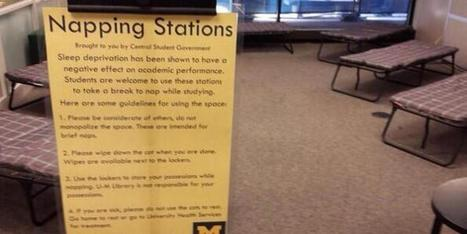 University Of Michigan Opens Napping Stations In Campus Library - Huffington Post | The Information Professional | Scoop.it