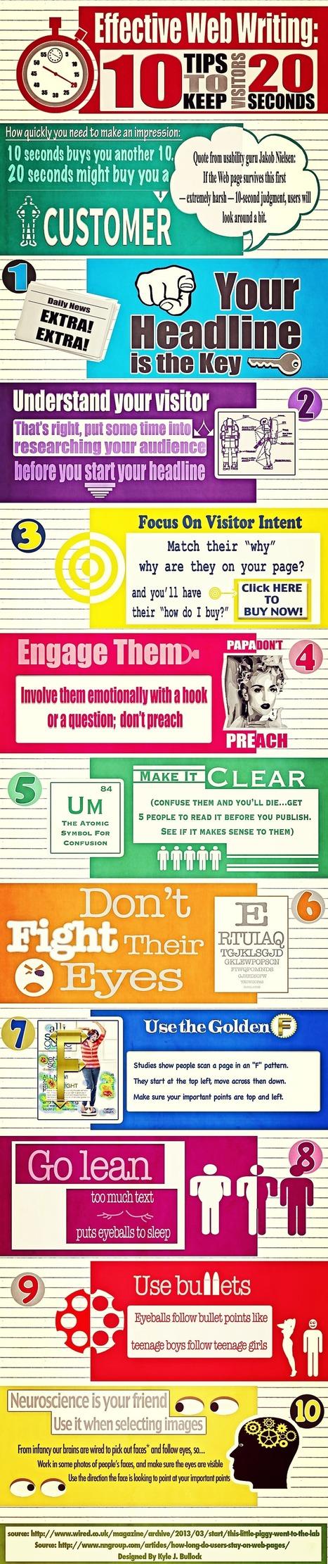 10 consejos para que las visitas a la web estén 20 segundos #infografia #infographic #marketing | Seo, Social Media Marketing | Scoop.it