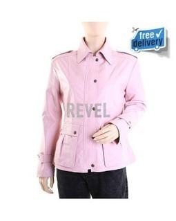Women's Pink Leather Biker Jacket - Roselle | Leather Jacket Stylish | Scoop.it