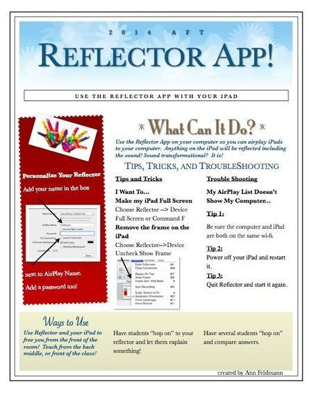 Tips and tricks using the Reflector App! | Ed Tech | Scoop.it