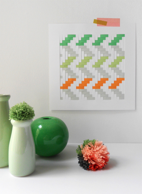 Make a Woven paper Artwork | Made with (and of) Paper | Scoop.it
