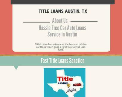 Title Loans In Austin – Smart way to handle cash problem with quick decision | Title Loans Austin, TX | Scoop.it