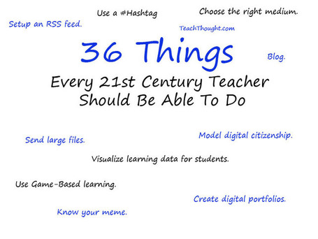 36 Things Every 21st Century Teacher Should Be Able To Do | inspiring library tools 2 | Scoop.it