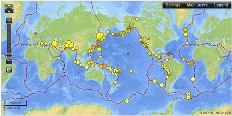 Real-time Earthquake Map | Geography Education | Scoop.it