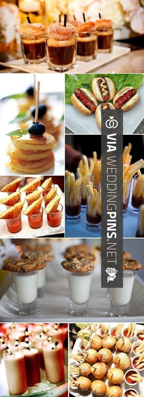 Wedding Food Ideas - mini food ideas -- inspiration only for a sample/tasting plate of diner food. | wedding pictures | Scoop.it