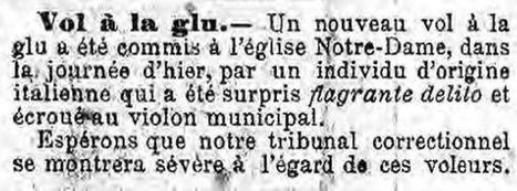 Vol à la glu, Nice 1889 | GenealoNet | Scoop.it