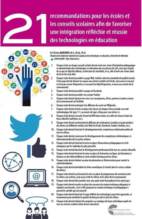 Intégration réfléchie et réussie des technologies en éducations. | Enseigner, former, éduquer | Scoop.it