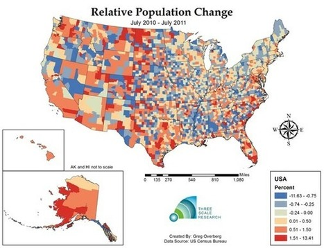 Is Negative Population Growth Upon Us? Deaths Exceed Births in One Third of U.S. Counties | Newgeography.com | JWK Geography | Scoop.it
