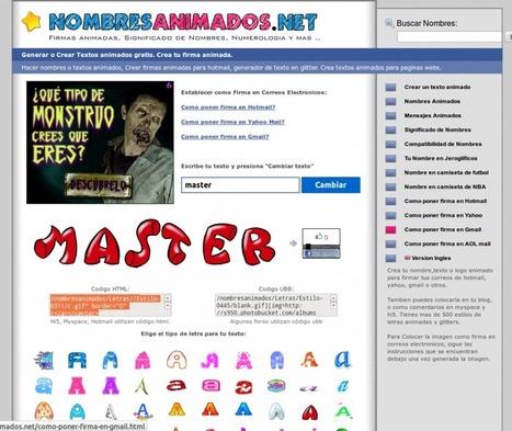 Crear textos animados con Nombres | Las TIC y la Educación | Scoop.it