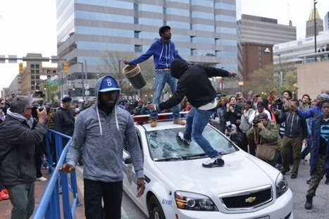After peaceful start, protest of Freddie Gray's death in Baltimore turns violent | Upsetment | Scoop.it