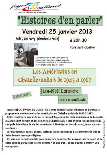 Lulu Sorcière Archive: CCHA - Les Américains en Chatelleraudais de 1945 à 1967   Rhit Genealogie   Scoop.it
