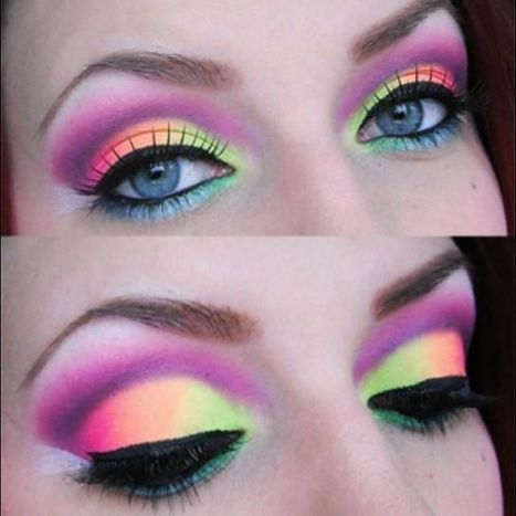 Neon-Colored Eye Shadow | At Home Beauty Treatments | Scoop.it