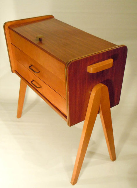 Cute sewing cupboard, Dutch design from the early 1960s | Antiques & Vintage Collectibles | Scoop.it