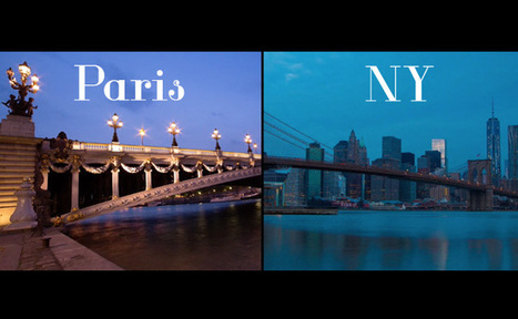 Il filme un parallèle visuel entre Paris et New York | E-marketing et les réseaux sociaux | Scoop.it