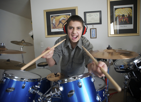 Drums a hit with autistic boy - The Columbian | Drum Sets | Scoop.it