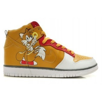 Video Game Sonic The Hedgehog Nike Shoes Tails Dunks Orange Red White   Comic Nike Dunks   Scoop.it