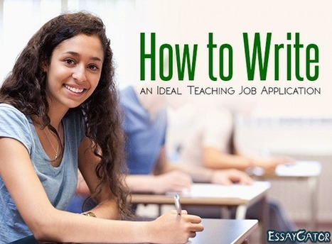 How to Write a Winning Teaching Job Application | Essay Writing Help | Scoop.it