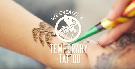 Un tatouage éphémère qui repousse les moustiques   IDEES BUSINESS   Scoop.it