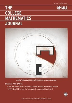 THE COLLEGE MATHEMATICS JOURNAL: SEPTEMBER 2013 | marked for sharing | Scoop.it
