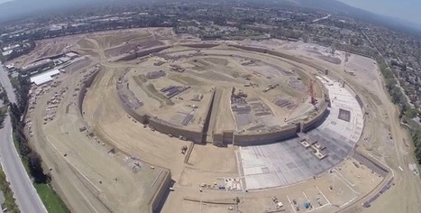 Drone video shows off Apple's massive new spaceship campus - GeekWire | Nerd Vittles Daily Dump | Scoop.it
