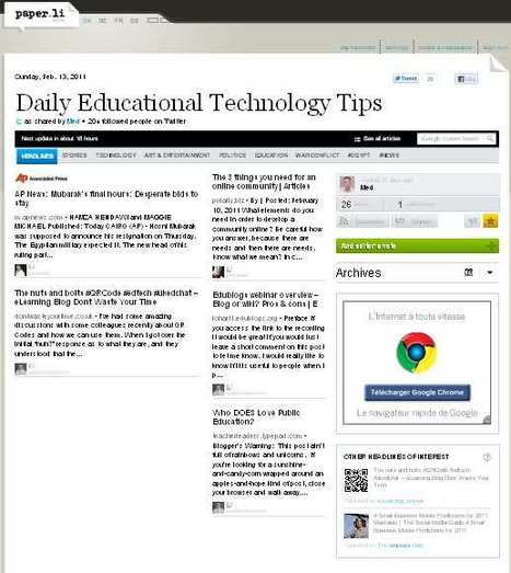 Paper.li :an outstanding web2.0 tool for educative twitters | New Web 2.0 tools for education | Scoop.it