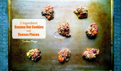 2 Ingredient Banana Oat Cookies with Reese's Pieces | Recipes | Scoop.it